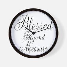 Blessed Beyond Measure Black Wall Clock