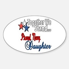 Proud Navy Daughter Oval Decal