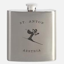 St. Anton Austria Skiing Flask