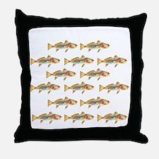 Redfish pattern Throw Pillow