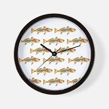 Redfish pattern Wall Clock