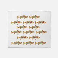 Redfish pattern Throw Blanket