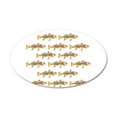 Redfish pattern Wall Decal