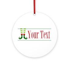 Personalizable Elf Feet Ornament (Round)