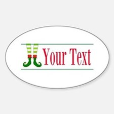 Personalizable Elf Feet Decal