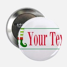 """Personalizable Elf Feet 2.25"""" Button (10 pack)"""