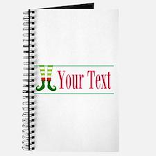 Personalizable Elf Feet Journal