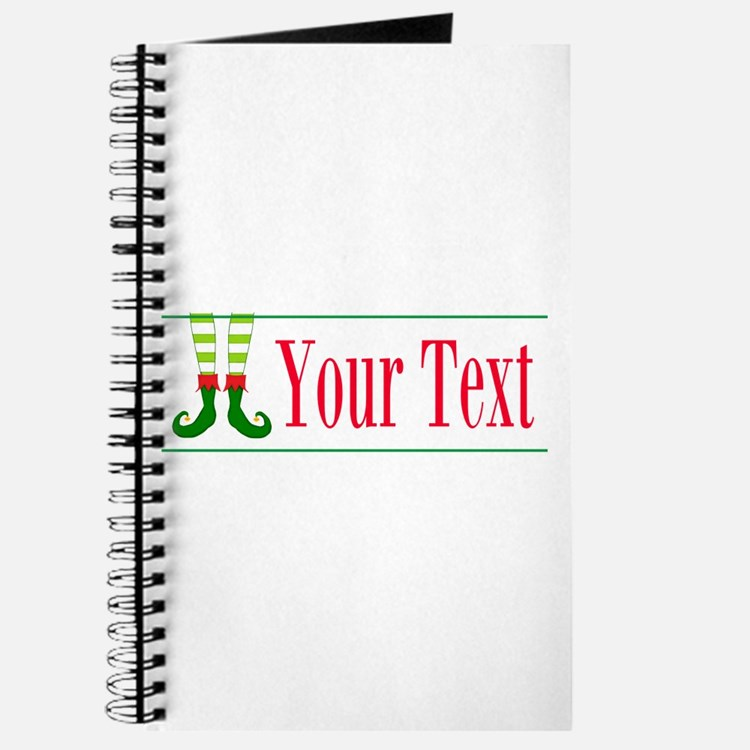 Personalizable Elf Feet Journal