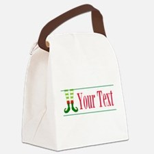 Personalizable Elf Feet Canvas Lunch Bag