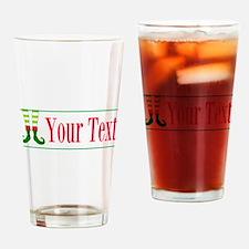 Personalizable Elf Feet Drinking Glass