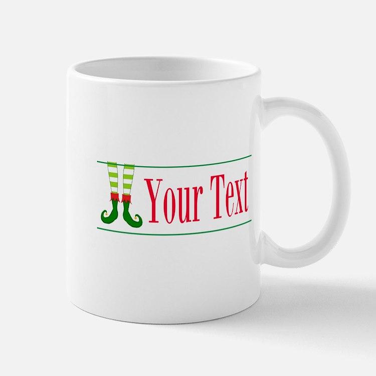 Personalizable Elf Feet Mugs