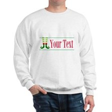 Personalizable Elf Feet Sweatshirt