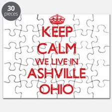 Keep calm we live in Ashville Ohio Puzzle