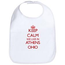 Keep calm we live in Athens Ohio Bib