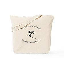 Grouse Mountain British Columbia Skiing Tote Bag