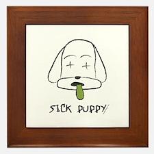 Sick Puppy Framed Tile