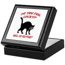 DO YOU FEEL LUCKY? (BLACK CAT) Keepsake Box