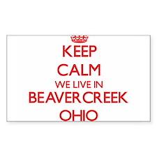 Keep calm we live in Beavercreek Ohio Decal