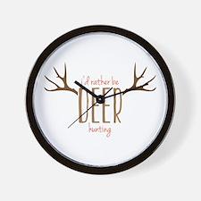 Deer hunting Wall Clock