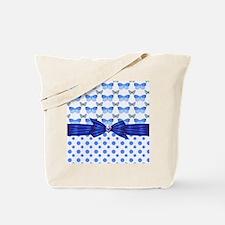 Polka Dots and Butterflies Tote Bag