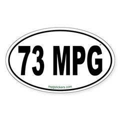 73 MPG Euro Decal