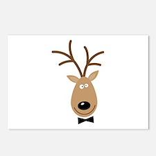 Dasher Reindeer Postcards (Package of 8)