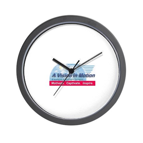 A Vision in Motion Wall Clock