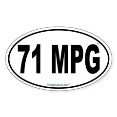 71 MPG Euro Decal