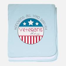Served Veterans day baby blanket