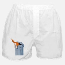 Cat in Trash Can Boxer Shorts