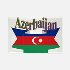 Azerbaijani ribbon Rectangle Magnet