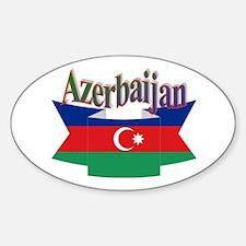 Azerbaijani ribbon Sticker (Oval)