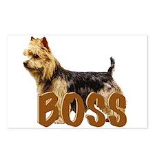 Australian terrier Boss Postcards (Package of 8)