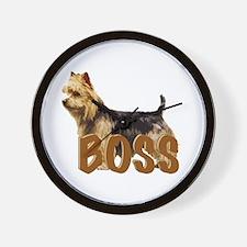 Australian terrier Boss Wall Clock