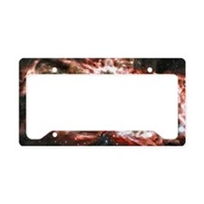 Colorful Cosmos License Plate Holder