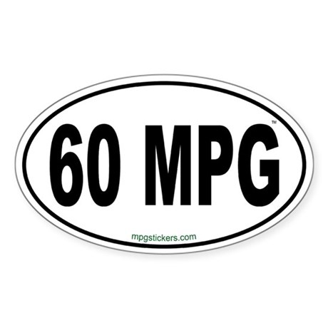 60 MPG Euro Sticker