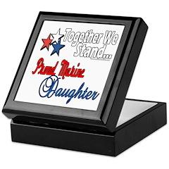 Proud Marine Daughter Keepsake Box
