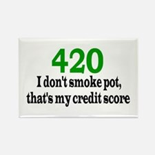 420 Credit Score Rectangle Magnet
