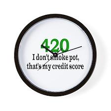 420 Credit Score Wall Clock