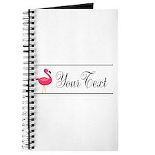 Pink Flamingo Personalizable Black Script Journal
