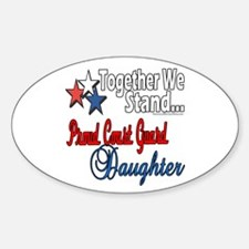 Proud Coast Guard Daughter Oval Decal