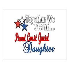 Proud Coast Guard Daughter Posters