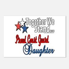 Proud Coast Guard Daughter Postcards (Package of 8