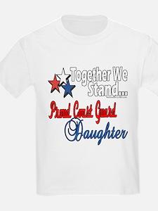 Proud Coast Guard Daughter T-Shirt