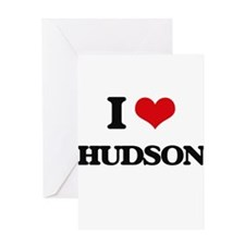 I Love Hudson Greeting Cards