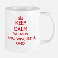 Keep calm we live in Canal Winchester Ohio Mugs