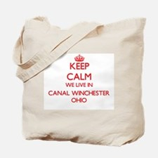 Keep calm we live in Canal Winchester Ohi Tote Bag