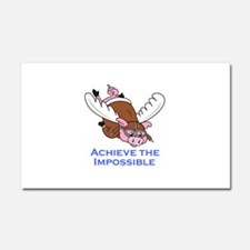 ACHIEVE THE IMPOSSIBLE Car Magnet 20 x 12