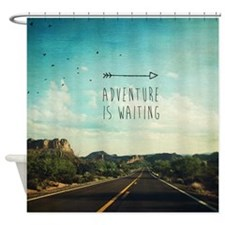 Adventure Is Waiting Desert Shower Curtain