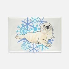 HARP SEAL SNOWFLAKES Magnets